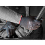 Polyco Gloves Polyurethane Size M Black Pair