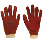 Polyco PVC Knitwrist Glove Red One Size