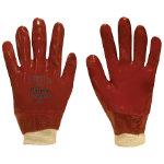Polyco Gloves pvc size m Red