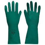 Polyco Nitri Tech II Flock Lined Chemical Gauntlet Green Size 8 Medium