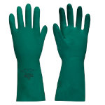 Polyco Nitri Tech II Flock Lined Chemical Gauntlet Green Size 9 Large