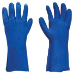 Polyco Nitri Tech II Flock Lined Chemical Gauntlet Blue Size 8 Medium