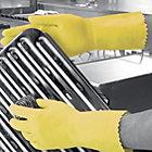 Polyco Optima Latex Flock Lined Chemical Gauntlet Yellow Size 8 85 Medium