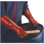 Polyco Gloves Gauntlet pvc size 95 Red