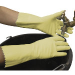 Polyco Swift Household Latex Glove Yellow Size Medium