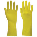 Polyco Swift Household Latex Glove Yellow Size Large