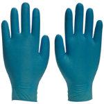 Polyco Gloves Disposable nitrile size 75 Black 100 pieces