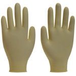 Polyco Finex Latex Powdered Free Disposable Gloves Natural Size 75 Medium