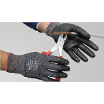 Polyco Dyflex Plus Gloves with Cut Resistance 5 Grey Size 8 Medium