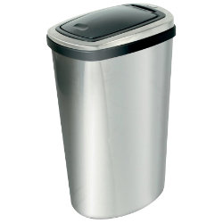 Addis Deluxe Press Top Bin Stainless Steel Silver 40 ltr