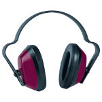 JSP Economuff Ear Defenders Black Red