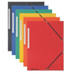 Office Depot 3 Flap Elasticated Folders A4 Assorted Pack of 10