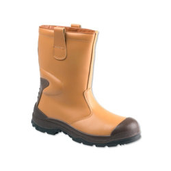 Unisex Rigger safety boot Size 8 Tan