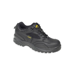 Alexandra Safety Trainer Mens Leather 8 Black