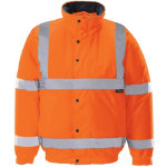 Unisex Hi vis bomber jacket Size S orange