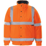 Unisex Hi vis bomber jacket Size M orange