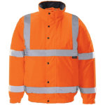 Unisex Hi vis bomber jacket Size L orange