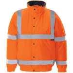 Unisex Hi vis bomber jacket Size XL orange