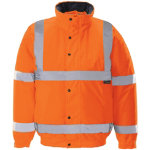 Unisex Hi vis bomber jacket Size XXL orange
