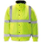 Unisex Hi vis bomber jacket Size M yellow