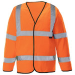 Unisex Hi vis long sleeved waistcoat Size M orange