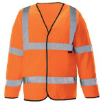 Unisex Hi vis long sleeved waistcoat Size XL orange