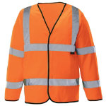 Unisex Hi vis long sleeved waistcoat Size XXL orange