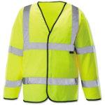 Unisex Hi vis long sleeved waistcoat Size M yellow