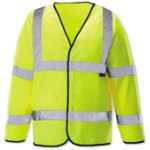 Unisex Hi vis long sleeved waistcoat Size XL yellow