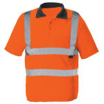 Unisex Hi vis poloshirt Size M orange