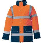 Alexandra Hi vis unisex contrast trim coat orange size XXL