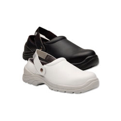 Alexandra Unisex Unisex safety lite clogs Size 9 White