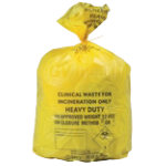 Yellow Sacks Clinical 12Kg 90 Litres Printed Roll of 50