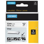 DYMO Labels 18444 12 mm x 55 m White Black
