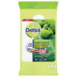 Dettol green apple floor wipes pack 15