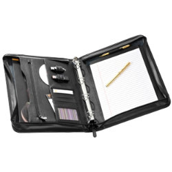 Falcon Leather A4 Zip Conference Folder with 4 ring binder