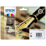Epson 16 Original Black 3 Colours Ink Cartridges C13T16264010