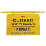 Closed for Cleaning metal sign