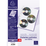 A4 3CD Punched Pocket Index Sleeves Pack of 10