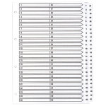 Guildhall Mylar Dividers White A4 50 Part 1 50 Numbered Set