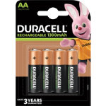 Duracell AA NIMH 1300 mAh Rechargeable Batteries 4 per pack