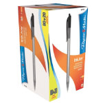 PaperMate Inkjoy retractable ballpoint pen in black pack of 100