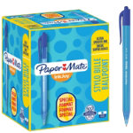 PaperMate Inkjoy retractable ballpoint pen in blue pack of 100