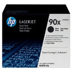 HP No90X Hi Yield Black Toner Cartridge Dual Pack CE390XD