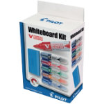 Pilot whiteboard set of 5 assorted colour markers holder and eraser