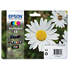 Epson T1806 black and Colour inkjet multipack