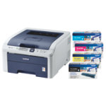Brother HL 3040CN Laser Colour Printer With Full Set Of Toners