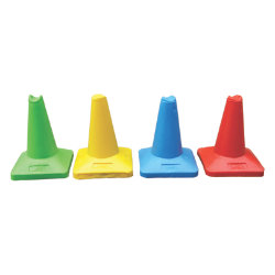 JSP Sand Weighted Sports Cones 60cm Red