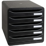 Exacompta Big Box Plus Black System Drawers