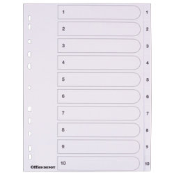Office depot punched dividers white board a410 part 1 10 for Office depot divider templates